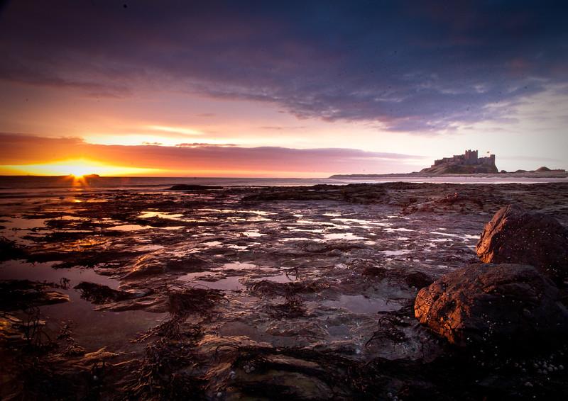 Bamburgh Castle dawn