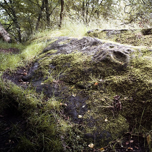 Routin Lin, cup and ring-marked stones, Northumberland UK