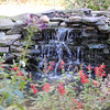Stone waterfall, as viewed from the observatory at Pearson park.