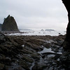 Standing inside Hole In The Wall, Rialto Beach, looking South toward La Push, WA. Near Forks, WA for you Twilighters. I should have tried a shot with my fisheye lens, darn. It was a very overcast and wet day, just what the vampires like.