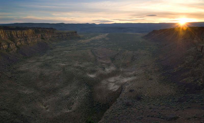 Echo Basin Sunset, Frenchman Coulee, E. WA