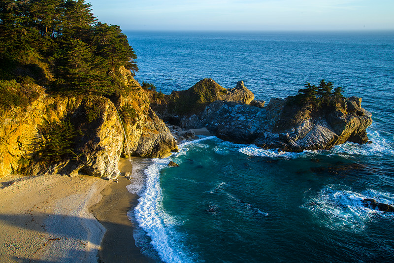 McWay Falls in evening light, Big Sur, CA