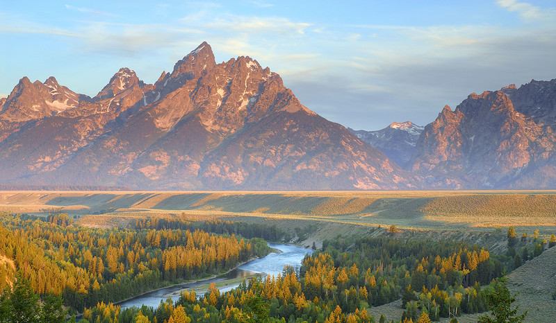Teton Sunrise, Snake River Overlook, Jackson, Wy