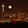 Moon Over the Space Needle