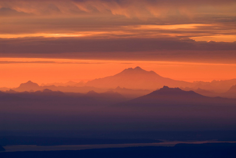 North Cascades Sunrise From Blue Mountain, Olympic National Park, WA