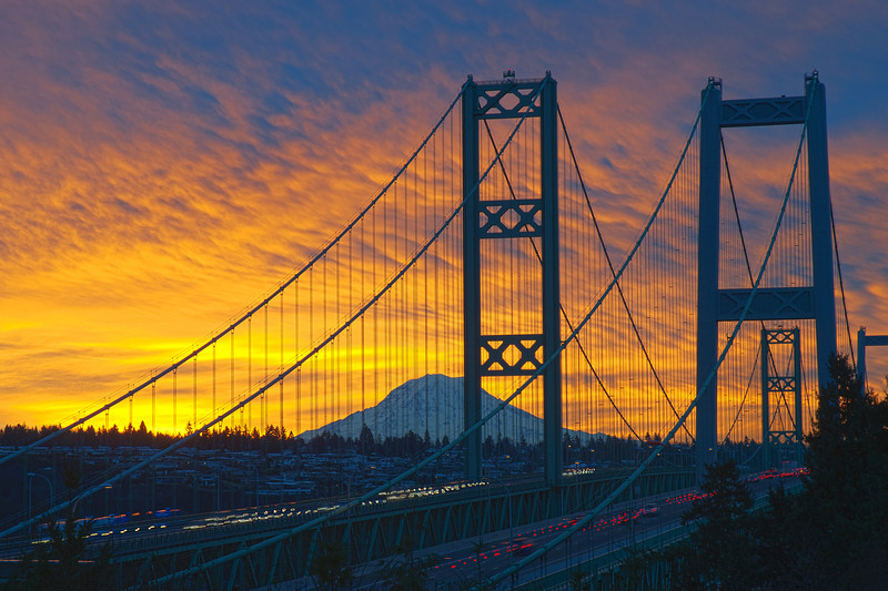 Narrows Bridge Sunrise 01/11/2012. Seven image HDR processed with CS5.