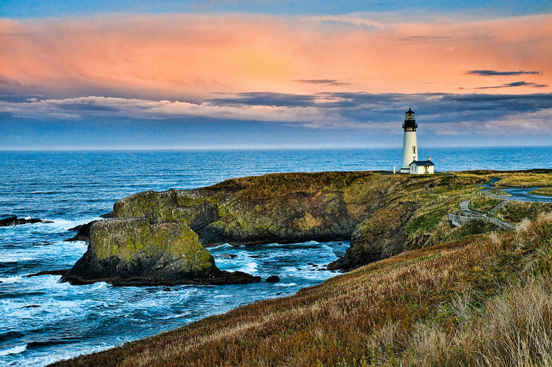 Yaquina Head Lighthouse Sunset Version 2.