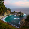 Another view of McWay Falls in evening light, Big Sur, CA