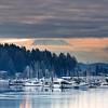 Angry Sunrise    Gig Harbor, Washington. Mt. Rainier in the distance.