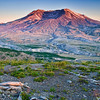Mount Saint Helens Sunset from the visitor center 07/2010. I was a member of the first large search and rescue team to go into the area in the Spring of 1981.