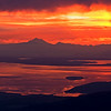 Fire In The Sky, Mt. Baker in the Distance. Taken from Blue Mountain, Olympic National Park, WA