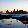 Seal Rock Sunset, not much of a sunset this night! Central Oregon Coast.