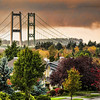 Tacoma Narrows Bridge in Fall Colors 2012.