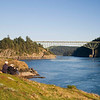 Couple taking in the view. Deception Pass 03.10.