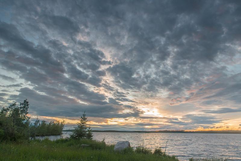 Setting sun at Lost Lake