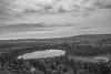 Oberg Lake in Black and White