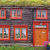 One of many old wooden houses in Røros