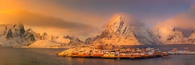 Lofoten Islands, Winter dreary Day,  Photo tour with Adrian Szatewicz. Places visited today: Homnoy Bridge, Reine, Sakrisoy, A town, Reine Sakrisøy Å Hamnøy