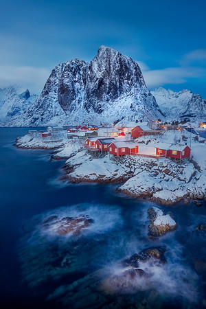 Lofoten Islands, Winter dreary Day,  Photo tour with Adrian Szatewicz. Places visited today: Homnoy Bridge, Reine, Sakrisoy, A town, Reine Sakrisøy Å Hamnøy
