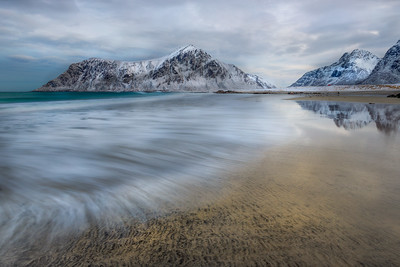 Lofoten Islands, Winter dreary Day,  Photo tour with Adrian Szatewicz. Places visited today: skagsanden nusfjord flakstadpollen
