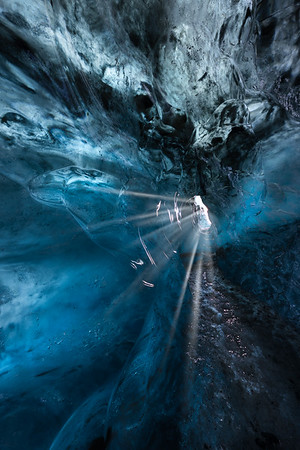 Iceland,  Ice Cave tour  with Ice Guide at Jokulsarlon