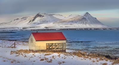 Iceland, Winter, Driving a Duster from Keflavik through Reykjavik to Snaefellsnes Peninsula,  Kirkjufellsfoss