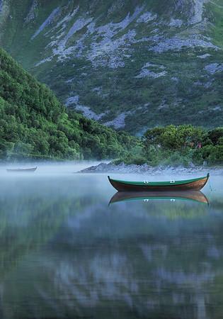 Hazy lake<br /> Bleik