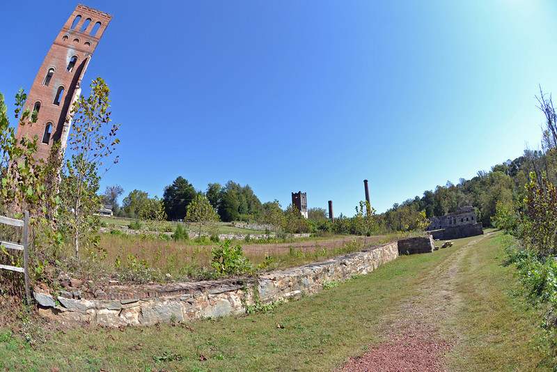 A Fish-Eye view of the ruins at the Glendale Mill