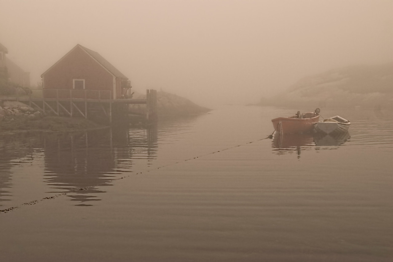 """""""Early Morning Mist"""" - Peggy's Cove, NS"""