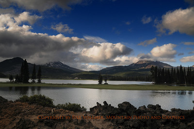 Looking North from Sparks Lake toward the Three Sisters and Broken Top.