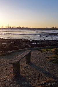 Shoreline Sunset at Low Tide