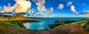 Hanauma Bay Sunset 6 pic panorama