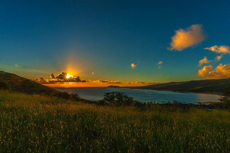 Hanauma Bay Sunset 12.22.13