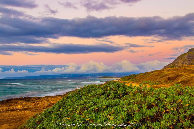 Kaena Point Sunset  6.29.13