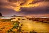 Kawela Beach Park 4.21.13  Sunset  Overcast rain