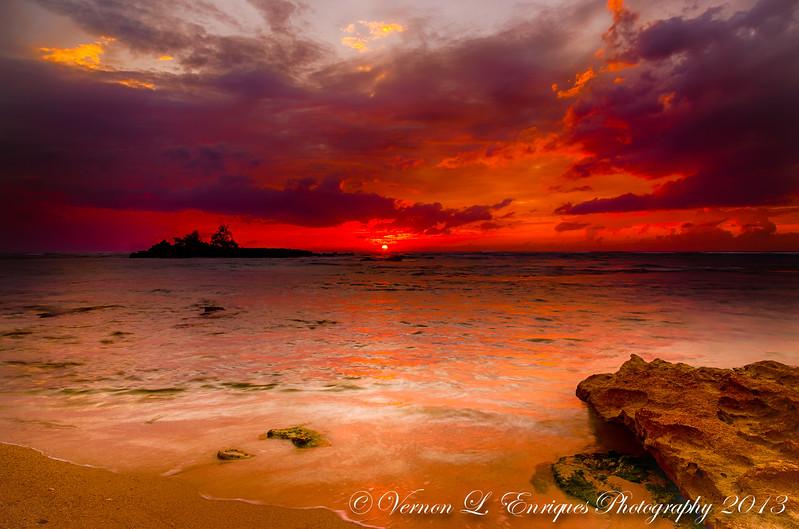 Kawela Beach Park 4.21.13  Sunset
