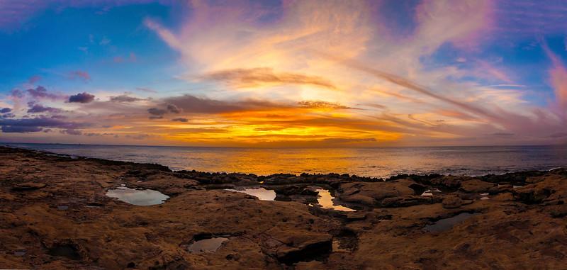 Ko'Olina Sunset 11.16.13   5 picture Pano