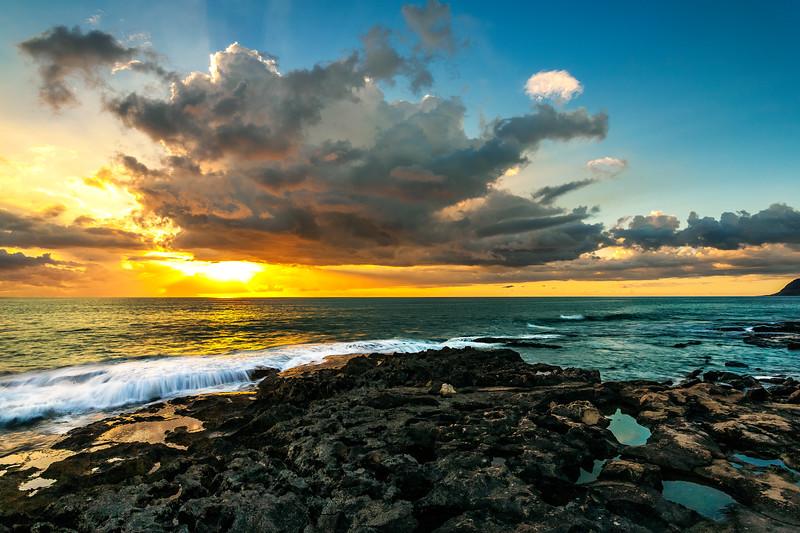 Ko'Olina Secret Beach Sunset 10.15.13