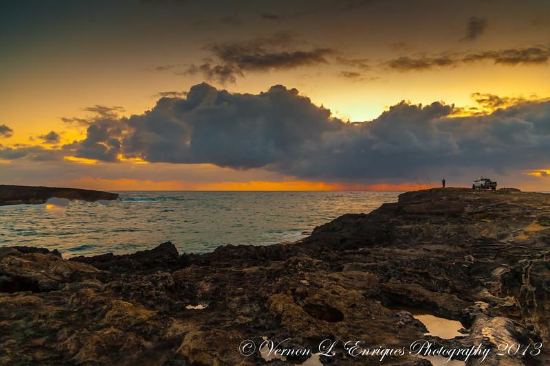 Laie, Hawaii  Oahu Hawaii  / Sunset
