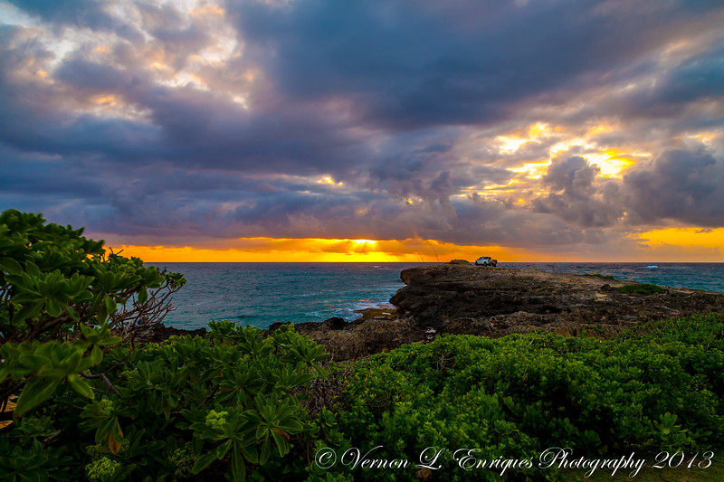 Laie, North Shore Oahu, Hawaii   SUNRISE   4.27.13