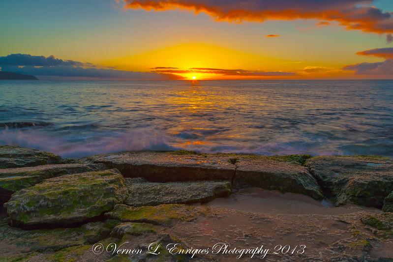 Papailoa, Haleiwa, Hawaii   SUNSET  5.1.13