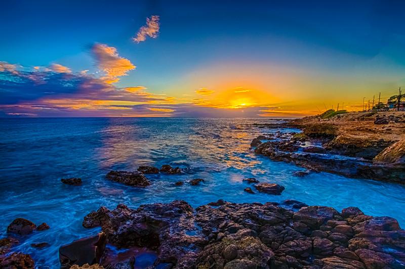 Maili Beach Sunset 9.21.13