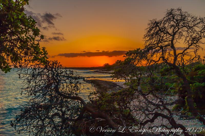 Nimitz Beach, Oahu, Hawaii  Sunset  4.2.13