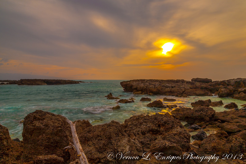 Shark's Cove 4.28.13  Sunset / overcast day