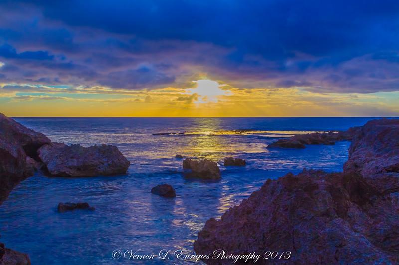 Shark's Cove Sunset 7.28.13