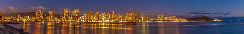 20131228-Magic Island night shot 6 pic pano nice
