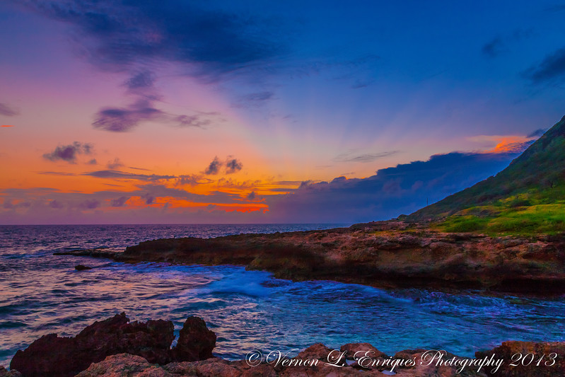Yokohama Bay, Waianae, Oahu, Hawaii   Sunset