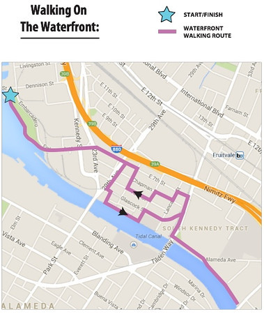 Walking on the Waterfront Map<br /> Oakland 2014-04-12-10-00-00