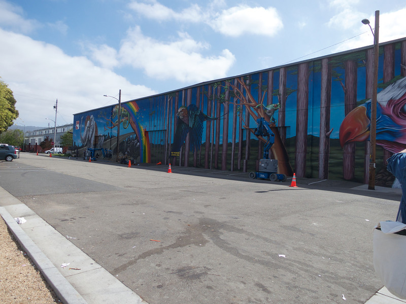 Oakland Museum White Elephant Sale Mural<br /> Oakland  2014-04-12 at 10-57-12