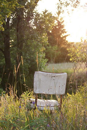 The old fishing chair on Rice Creek.